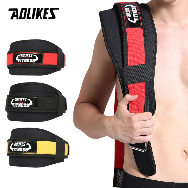 AOLIKES 1Pcs Waist Support Belt Sport Pressurized Weightlifting Bodybuilding Fitness Squatting Training Lumbar Back Support Gear