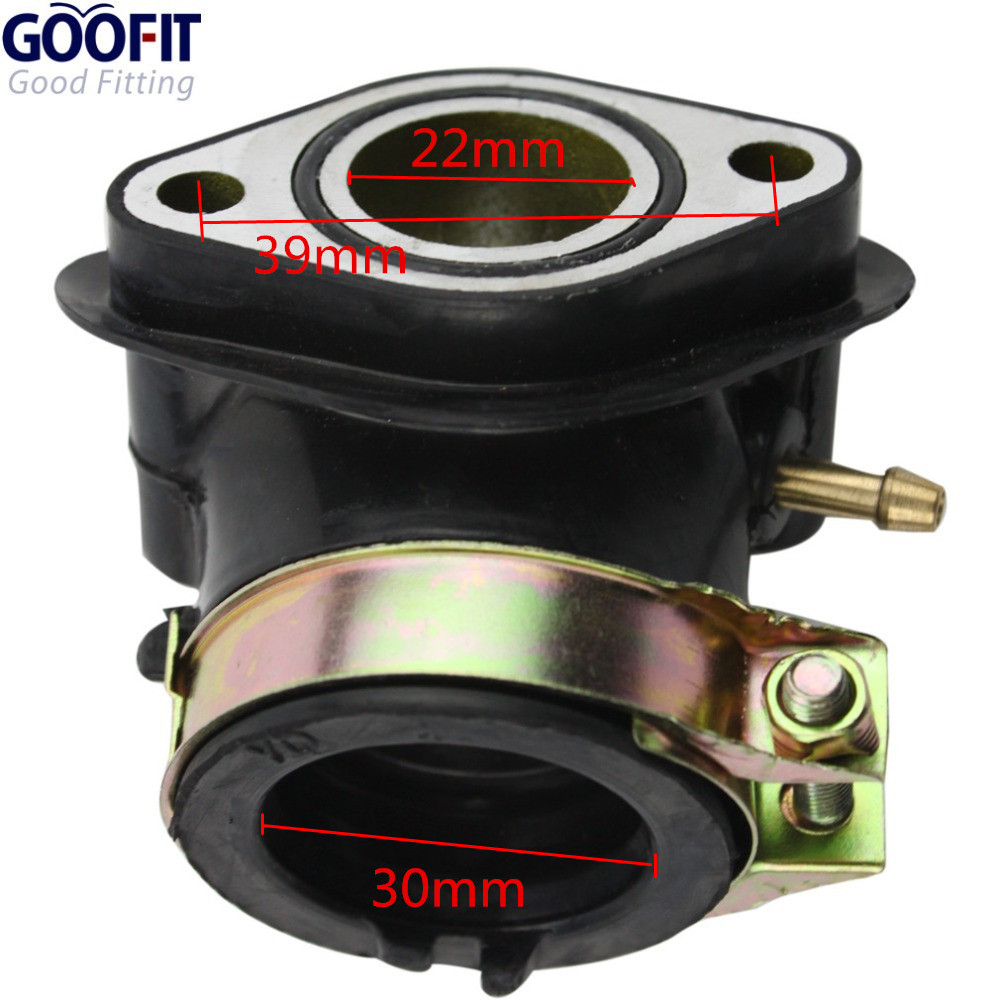 US $43 54 35% OFF|GOOFIT PD24J Carburetor with Air Filter Intake Manifold  for GY6 125cc 150cc Go Kart Scooter 152QMI 157QMJ Group y6-in Carburetor