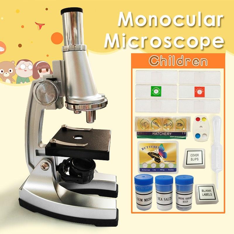 Kids Gift 900x Monocular Head Best Gift Educational Toy Microscope