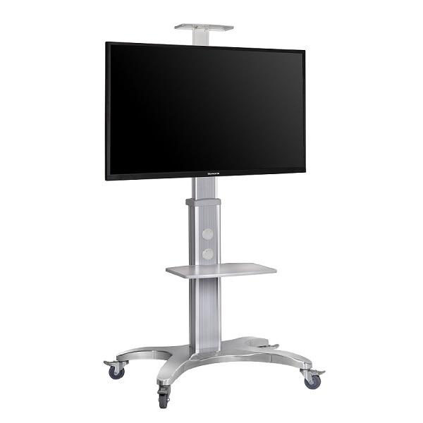 Aluminum Alloy NB AVF1500-50-1P TV Mobile Cart Free Lifting 55-80 LED LCD Plasma TV Trolley Stand With AV Shelf Camera Holder