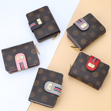 Wallet Female Coin Purse Business Card Holder Zipper & Hasp small wallet Short Leather Women mini Wallet Purses Small Coin Purse brand new lovely women lady retro vintage owl print small wallet hasp purse clutch bag hasp coin purses small