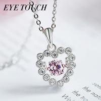 EYE TOUCH Dancing Stone Necklace Women Pendants Crystals From Swarovski Charm S925 Sterling Silver Jewelry Fashion