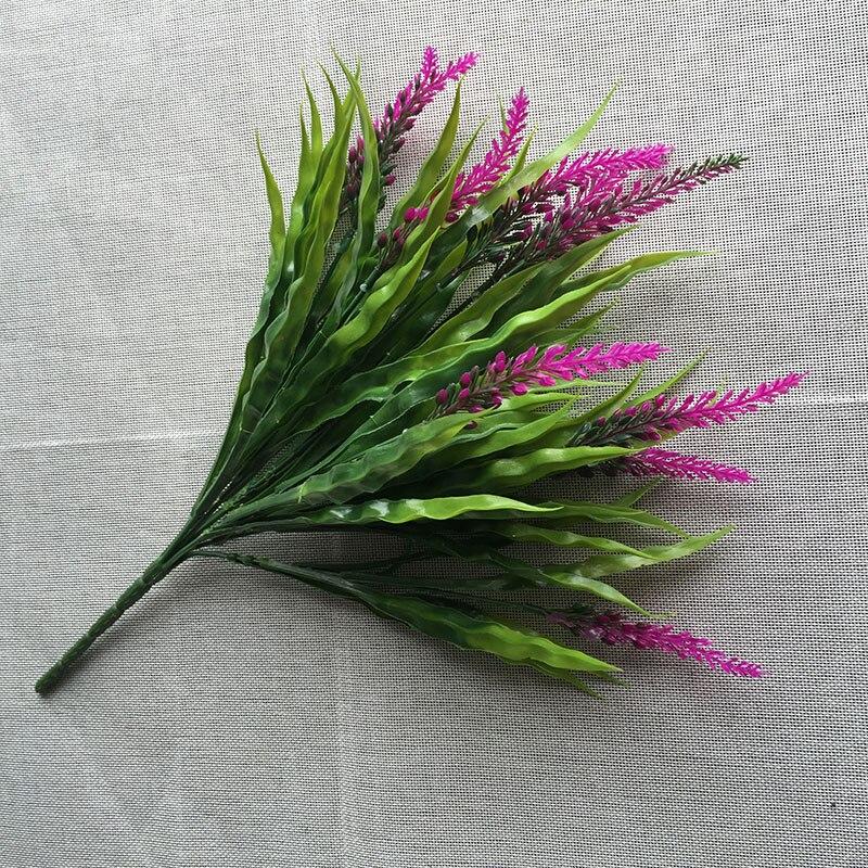 2 Pcs Sutra Bunga Hijau Rumput Tanaman Hijau Pedesaan Eropa Buatan