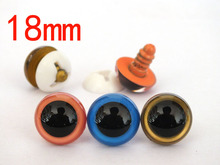 Wholesale 60pcs Dolls Toys Safety Plastic Snap 18mm Plastic Safety Eyes mixed color