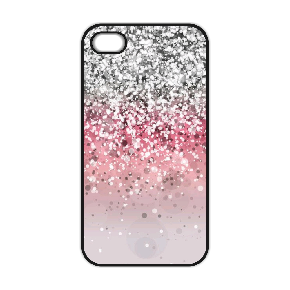 Pink And Silver Glitter Case for iPhone 4 4S 5 5S 5C SE 6 6S 7 Plus Samsung Galaxy S3 S4 S5 Mini S6 S7 S8 Edge Plus A3 A5 A7