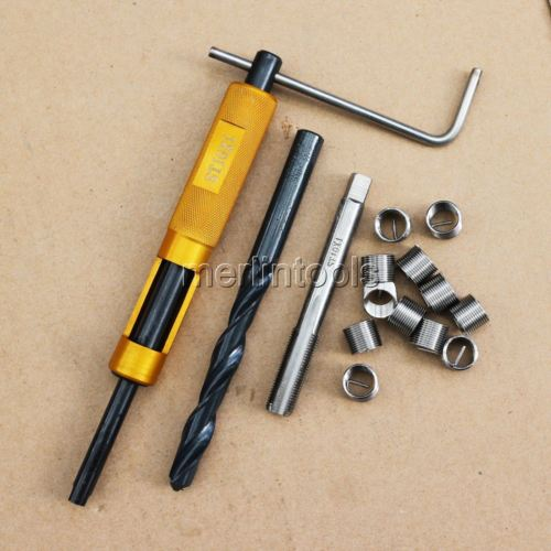 цена на Helicoil Thread Repair Kit M10 x 1 Drill and Tap Insertion tool Fine thread