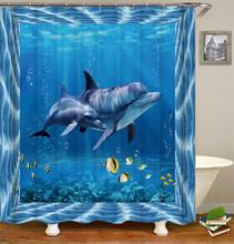 Sea Turtle Print Waterproof Shower Curtain Polyester Fabric Bathroom Curtain Octopus Home Decor Curtain With 12 Hooks Fornasetti