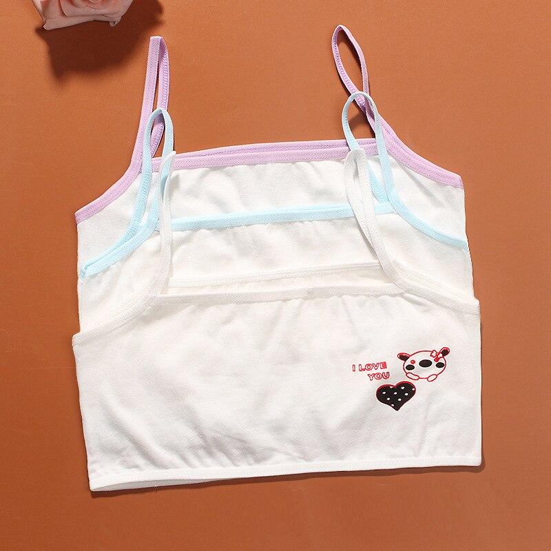 Underwear Girls' Clothing 3pcs/lot New Lovely Cotton Bra Girls Underwear Bra Vest Children Underclothes Student Sport Undies