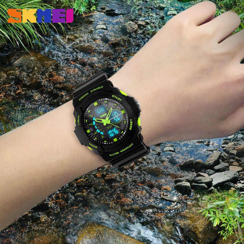 SKMEI résistant aux chocs montres étanche hommes femmes enfants en plein air Sport chronomètre montre multifonction enfants mode montres