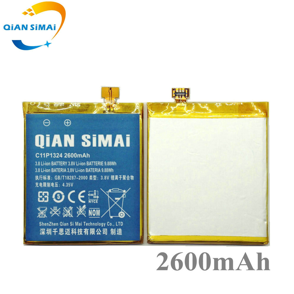 QiAN SiMAi New 100% High Quality C11P1324 2600mAh Battery For <font><b>ASUS</b></font> <font><b>ZenFone</b></font> <font><b>5</b></font> A500G Z5 A500 <font><b>A500CG</b></font> <font><b>A501CG</b></font> A500KL Phone image