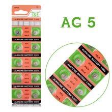 цена на Hot selling 10 Pieces AG5 LR754 393 SR754 193 546 RW28 48 Button Coin Cell Alkaline Battery for watch