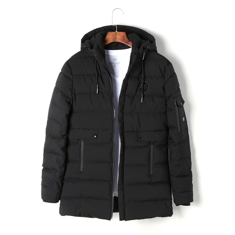 2017 New Men Winter Hooded Long Jackets Mens Warm Coats Plus Size L-XXXL Fashion Snow Thick Parkas Man High Quality 9640