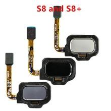 Оригинальные запчасти датчик отпечатков пальцев Главная кнопка гибкий кабель для Samsung Galaxy S8 S8 + Plus SM G950 G955, черный, серебристый, серый