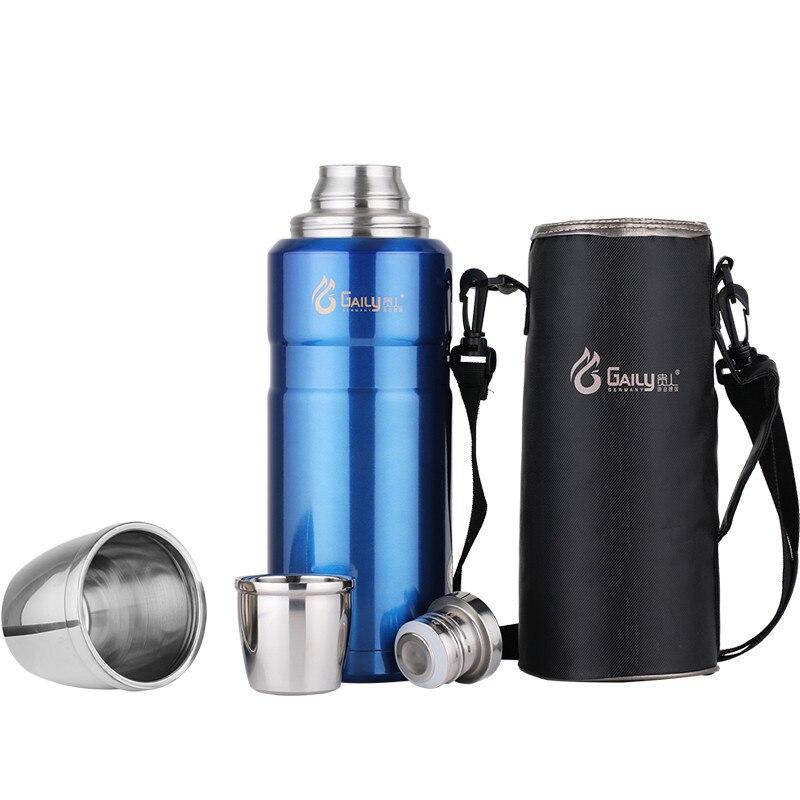 304 Edelstahl isolierte Thermosflasche 1L ~ 2L Kugel thermobecher Reisekaffeetassen Thermische vakuum wasserflasche Thermische tasse-in Isoliergefäße & Thermoskannen aus Heim und Garten bei  Gruppe 1