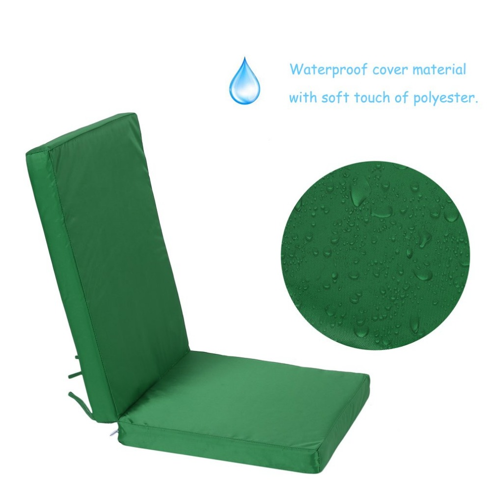 Highback Garden Dining Chair Cushion Thick Rattan Chair Mat High Back Recliner Pad Waterproof Tatami Mat Outdoor Furniture