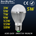 High Brightness 3W/5W/9W/12W/15W/18W Led LED Bulb lamp, E27/B22 led Spotlight, AC85-265V led bulb light, SMQP-3