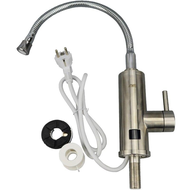 Новейший нагреватель воды из нержавеющей стали 220 в 3000 Вт, кухонный Электрический нагреватель воды, мгновенный нагреватель смесителя