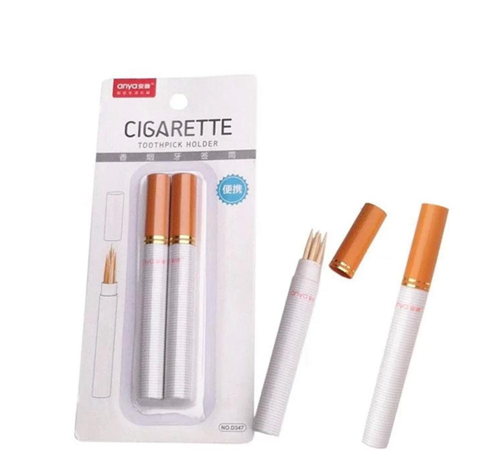 Two Sticks Outdoor Portable Cigarette Shape Secret Stash Diversion Pill Box Toothpick Holder Toothpick Container Case Houders