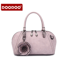 DOODOO PU luxury handbags women bag designer female shell type Zipper European and American Fashion Shoulder bags for womens