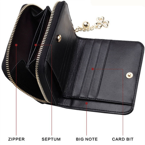 Patent Leather Womens Wallets Female Small Wallets Mini Zipper Wallet for Women Short Coin Purse Holders Clutch Girl Money Bag Lahore