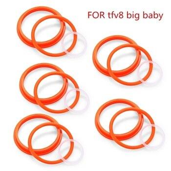 цена на YUHETEC Silicone Ring for smok TFV8 big baby E Cigarette Accessory  5 x Silicone Ring Kit