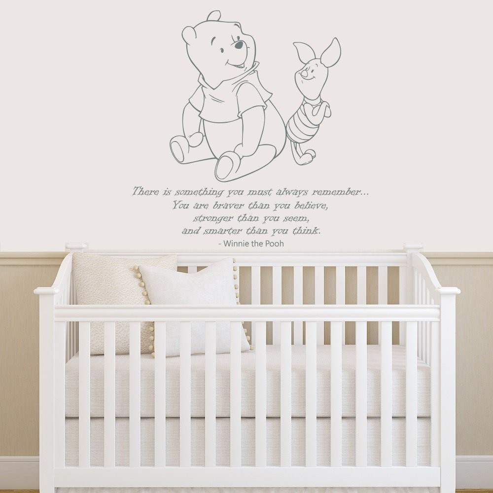popular pooh quotes wall decor buy cheap pooh quotes wall decor winnie the pooh quote wall decal vinyl sticker decals quotes braver stronger smarter wall decor nursery