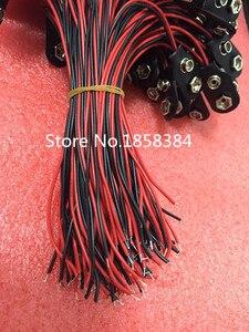 Image 2 - 200 adet/grup 9V pil yapış bağlantısı klipsi kurşun teller tutucu 150MM