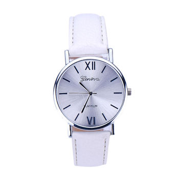 Leather Band Wrist Bracelet Watches