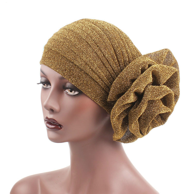 New Women's Hijabs Turban Elastic Cloth Head Cap Hat Ladies Hair Accessories Muslim Scarf Cap Wholesale
