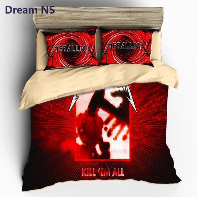 Dream Ns Metallica Duvet Cover Set Rock Music Band Bedding