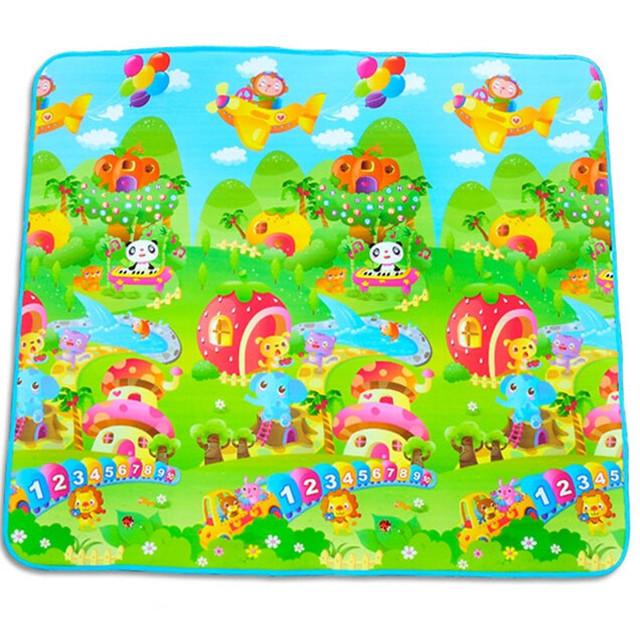 Venda quente Novo Estilo de Grande criança Jogar Mat 200*180 CM Feliz Zoológico Crianças dos miúdos Piquenique Bebê Engatinhando Tapete Mat