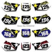 NICECNC Custom Number Plate Backgrounds Graphics Sticker & Decal For Suzuki RM125 RM250 1999 2000 RM 125 250