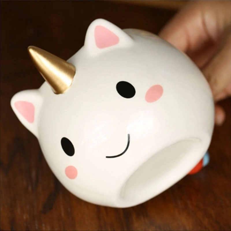 Transhome креативная 3D носорог Кружка Керамическая кофейная кружка молочная чашка керамические кружки для чая и кружки 300 мл Милая Золотая стерео чашка с единорогом