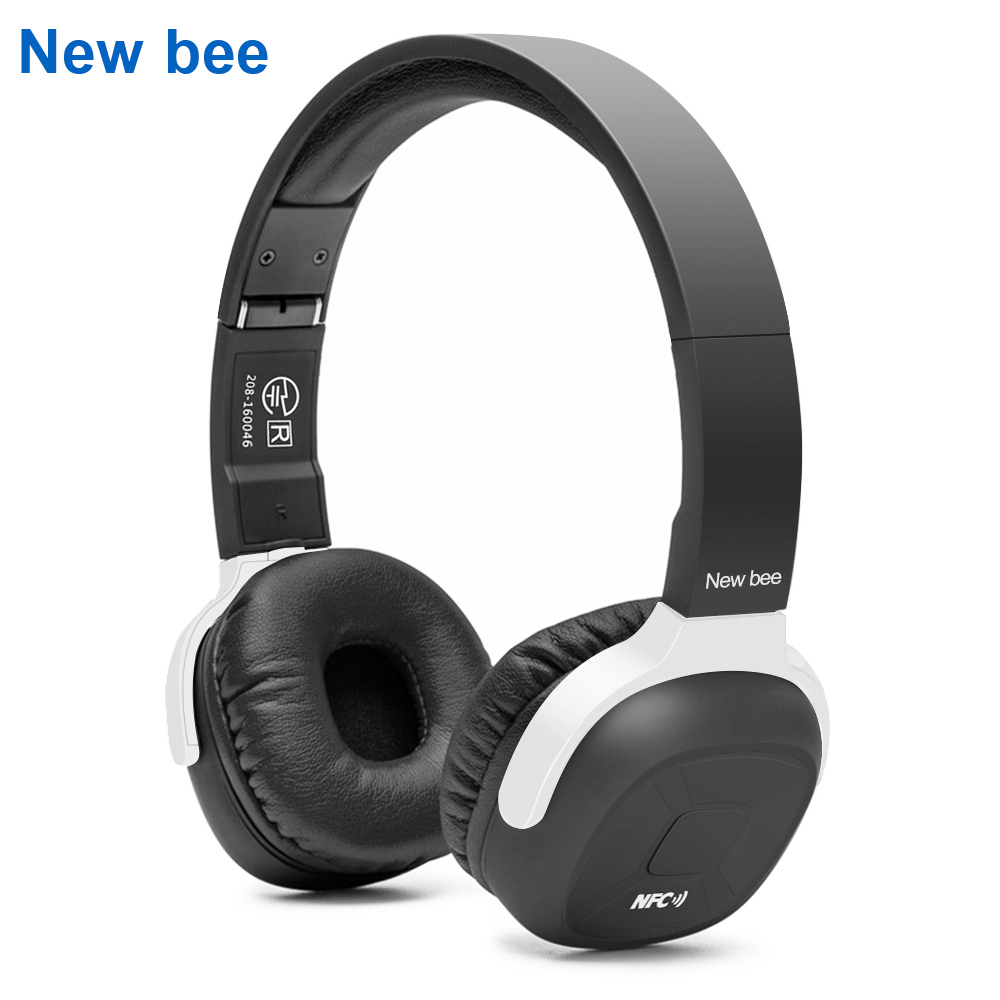New Bee Wireless Bluetooth Headphone Stereo Portable Folder Headset Earphone with Sport App Microphone NFC for Phone Computer TV leadtry bluetooth headphone portable bluetooth headset sport earphone with mic pedometer earbud case for phone pc tv