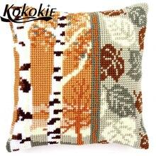 diy Cross stitch kits pillow kit fabric embroider Needlework