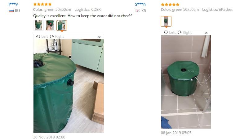 Tanque de água dobrável do jardim da