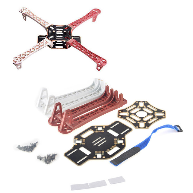 Hot sale! F450 4-Axis MultiCopter Quadcopter Quadrocopter Kit Frame 450F Multi-rotor Airframe Kit Frame + Multi-Copter KK MK MWC