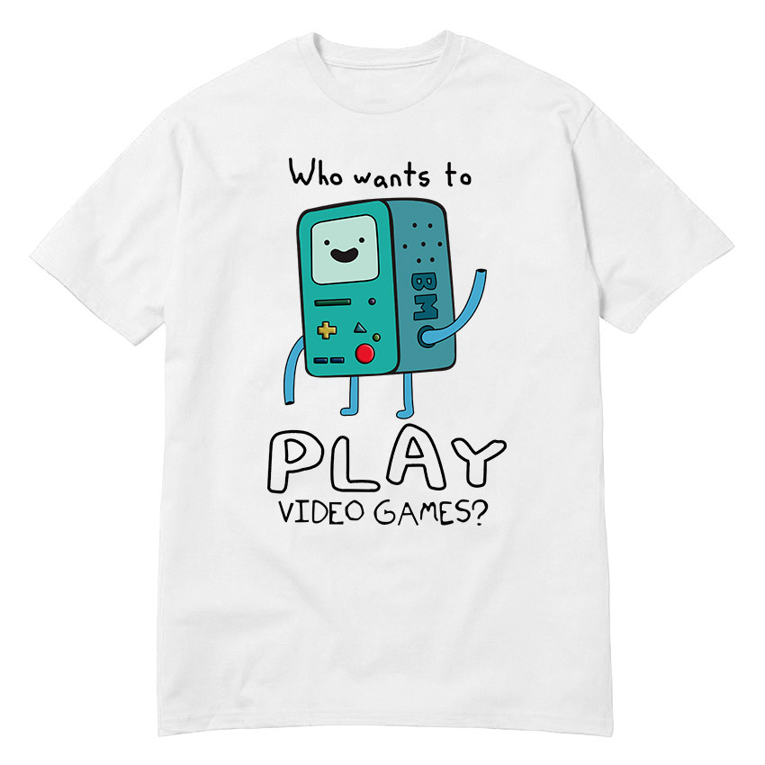 USAprint Harajuku Men T Shirt Adventure Time Play Video Games Funny t shirt cotton leisu ...