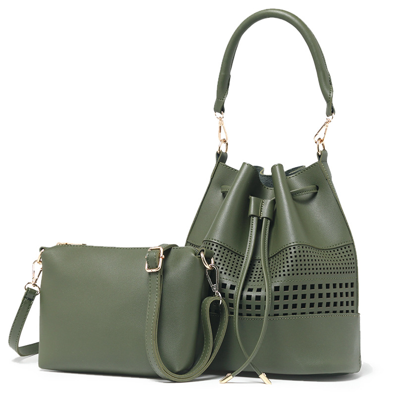 купить Fashion Hollow Messenger Bag Women Lovely Bucket Composite Bag Handbags Women Shoulder Bags Ladies Drawstring Female Tote недорого