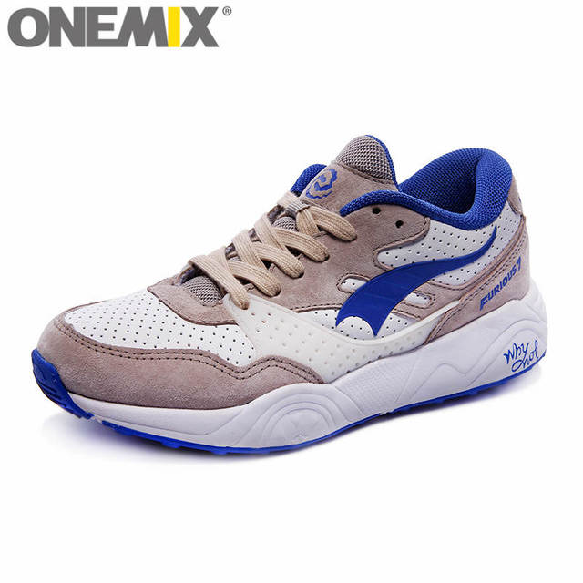 low priced 1664c db448 onemix Classic Running Shoes for Men Breathable Walking Outdoor Sneaker  Women Lady Trainers Prevent Sideslip Nice Sports Shoes