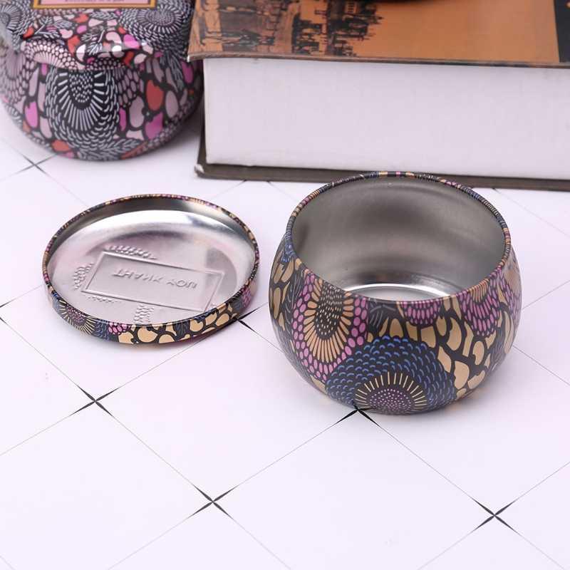 Ретро декоративная коробка для хранения сладостей Ювелирная монета контейнер для хранения Подставка для свечи Свадебная подарок