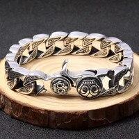 Тяжелые твердые Серебро 925 ссылка браслет для Для мужчин 100% реального стерлингового серебра 925 Коренастый браслет цепочка Прохладный Для му