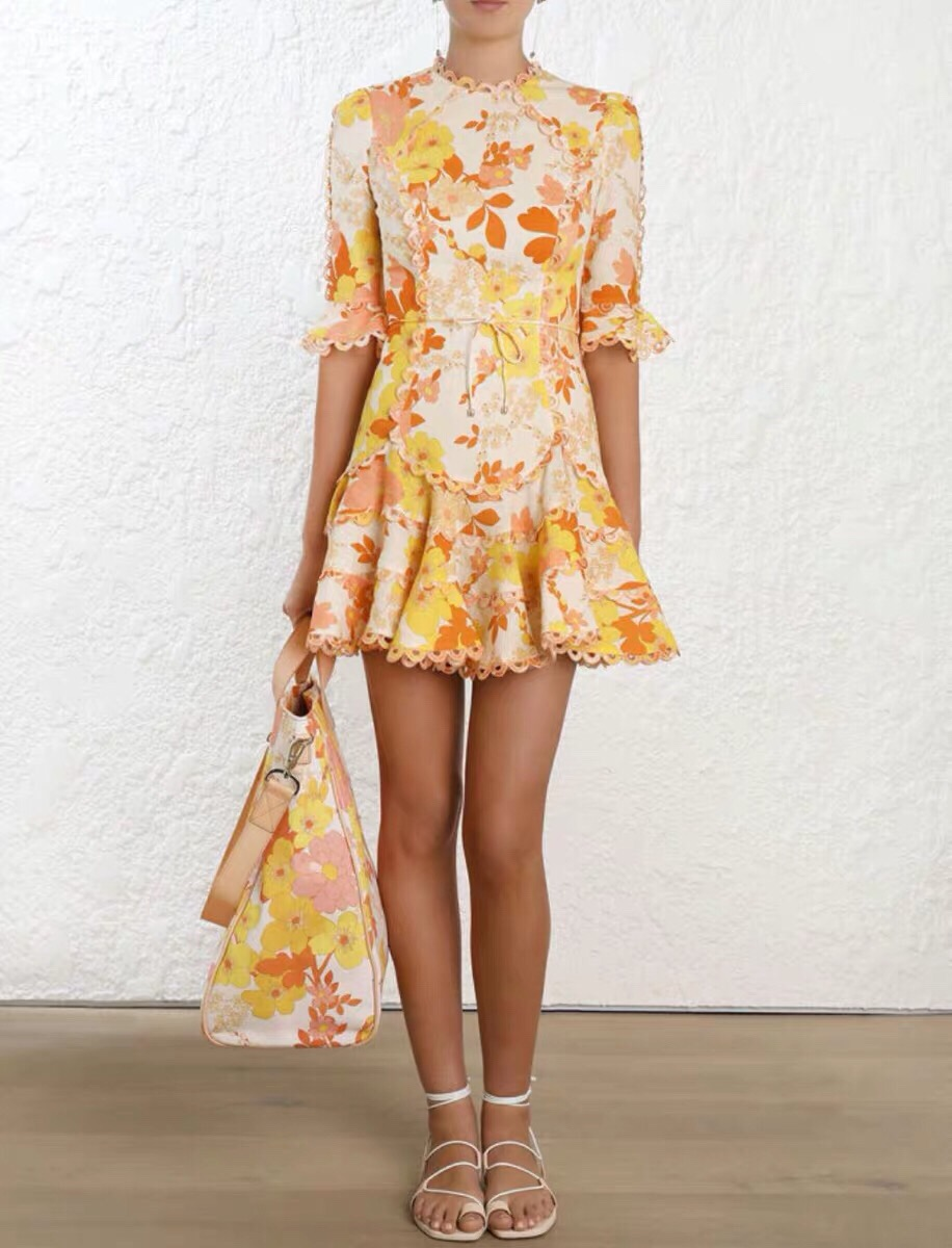 2019 새로운 빈티지 코 튼 인쇄 드레스 여성 freeshipping-에서드레스부터 여성 의류 의  그룹 1