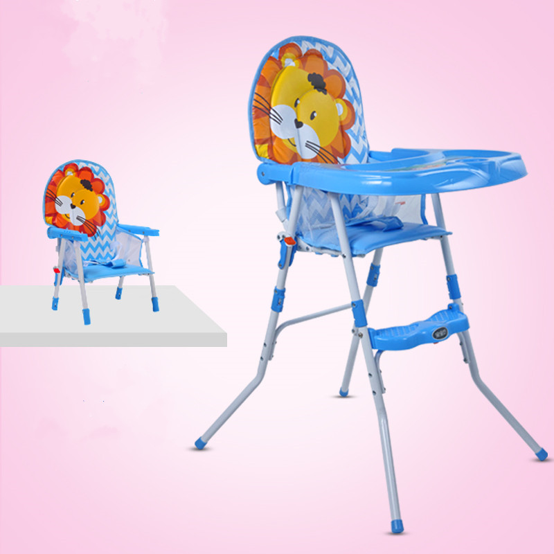Adjust Height Baby Dining Chair, Portable Feed Highchair, Multifunctional 2 in 1 Baby Highchair, Lightweight Baby Feed Chair