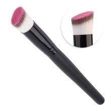 Pink Oblique Head Makeup Brushes Professional Beauty It Cosmetics BB Cream Foundation Brush Black Handle Contour Make Up Brush