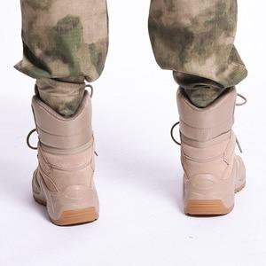 Image 5 - الرجال الصحراء العسكرية التكتيكية الأحذية الذكور في الهواء الطلق مقاوم للماء حذاء للسير مسافات طويلة أحذية رياضية للنساء عدم الانزلاق ارتداء الرياضة تسلق الأحذية