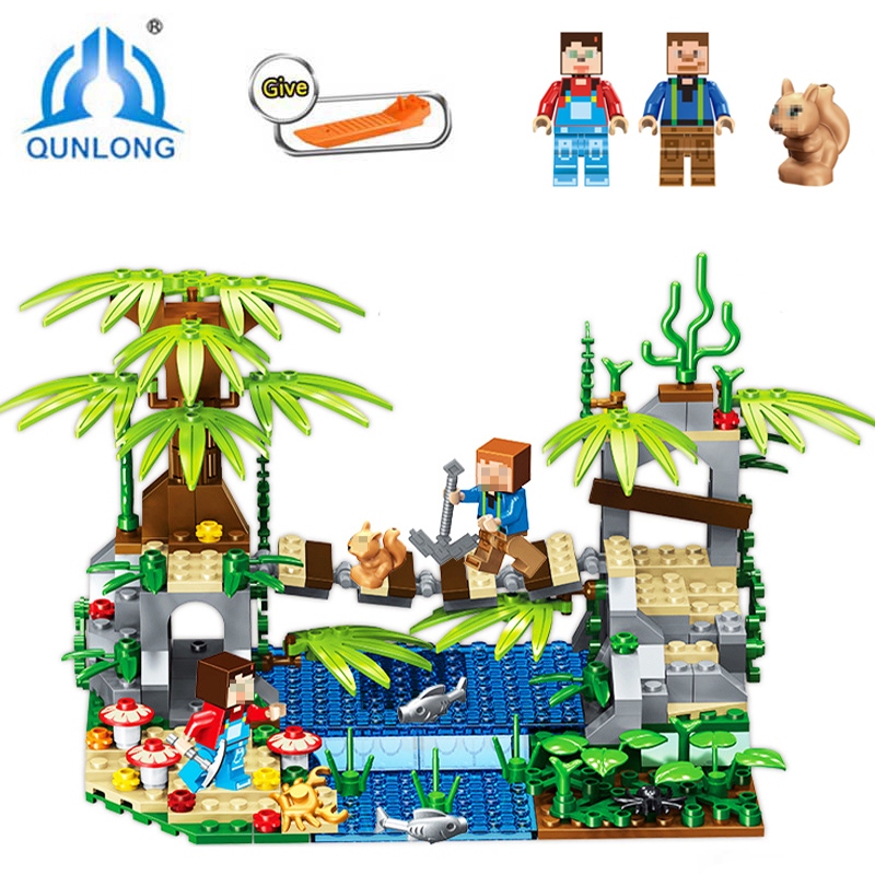 Qunlong Building DIY Blocks Bricks Figures Castle Kids Toy Compatible LegoeINGly Minecraft City Compatible Lepine Building Toy 10494 city supermarket building bricks blocks set girl toy compatible lepine friends 41118