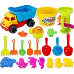 21 шт. песчаный пляж Игрушечные лошадки комплект с сетка сумка для детей-Цвет случайный