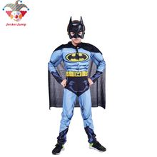 Purim Batman Costume Halloween Kids Deluxe Muscle Dark Knigh Fancy Dress Grey Child Cosplay Party Boys Superhero Suit