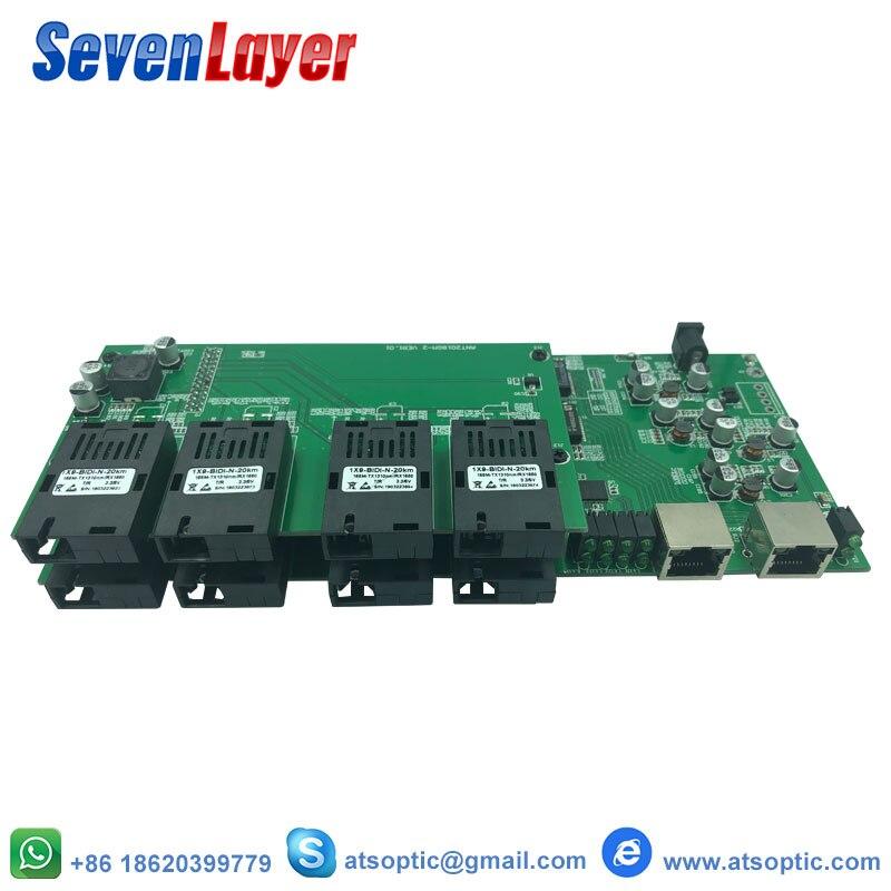 Gigabit Ethernet Commutateur 8 155 M Fiber De Port 2 1000 M RJ45 UTP Qualité Industrielle Simple Single Mode Fiber SC conver PCB conseil